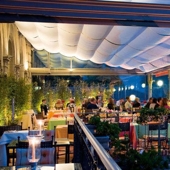Romantic And Elegant Dinner In The La Terrazza Restaurant