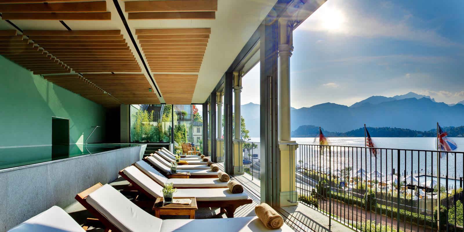 Hotel Spa And Wellness Center With Pool At Lake Como In Bellagio Grand Hotel Tremezzo