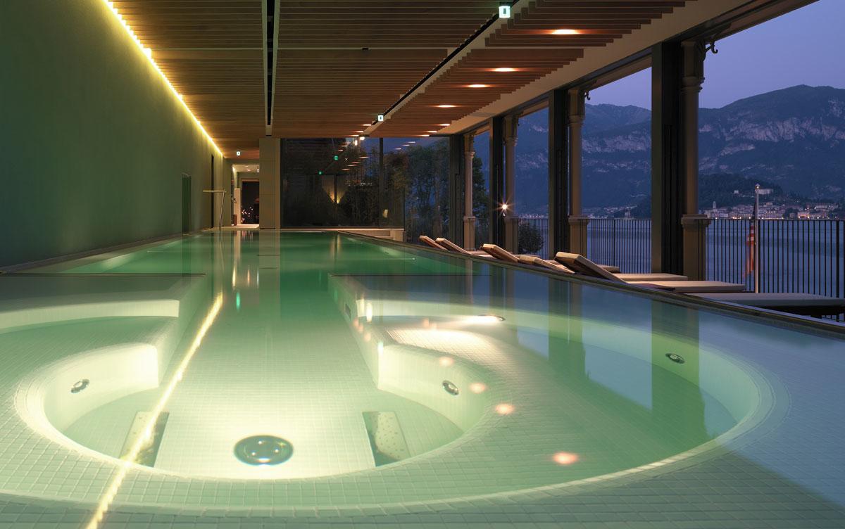 Luxury Spa and wellness center ESPA, 5 star hotel on Lake Como